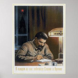 USSR Soviet Propaganda Stalin 1940 Poster