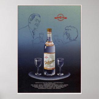 USSR Soviet Stolichnaya Vodka Advertising 1965 Poster