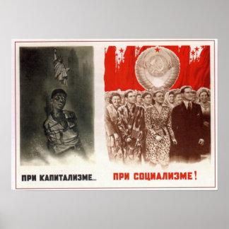 USSR Soviet Union Anti-capitalism 1948 Poster