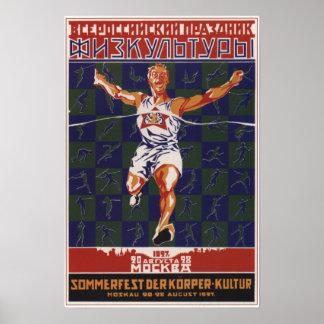 USSR Soviet Union Sport Event 1927 Poster