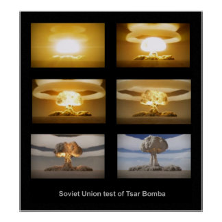 USSR Tsar Bomba nuclear test poster