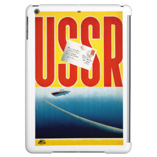 USSR Vintage Cruise Travel Poster Restored iPad Air Cover