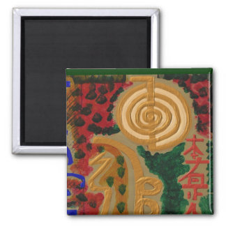 USUI REIKI symbols Square Magnet