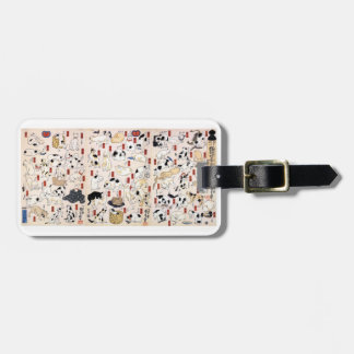 Utagawa country 芳 'cat 飼 good 53 疋', Utagawa Luggage Tag