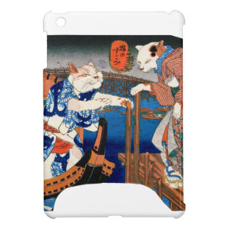 Utagawa country 芳 'enjoying the cool air of cat' cover for the iPad mini