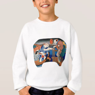 Utagawa country 芳 'enjoying the cool air of cat' sweatshirt