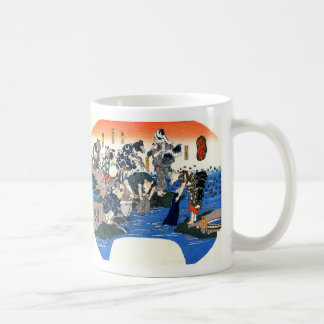 Utagawa country 芳 'it dyes and color exhausts', coffee mug