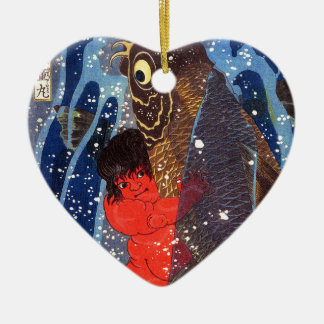 Utagawa country 芳 'Sakata robust child circle', Ceramic Ornament