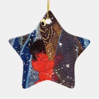 Utagawa country 芳 'Sakata robust child circle', Ceramic Star Ornament