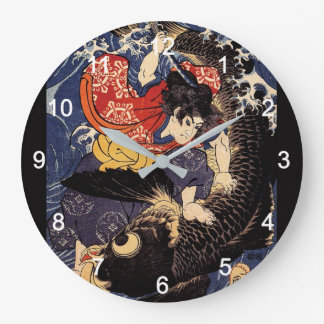 """Utagawa country 芳"" ""the ogre it is young the Large Clock"