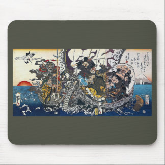 Utagawa country the 芳 valley 斎 English spring Mouse Pad