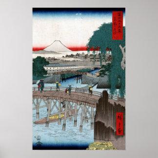 Utagawa Hiroshige Ichikobu Bridge Poster