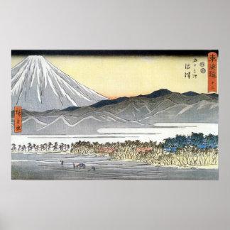 Utagawa Hiroshige Mt Fuji Seen Across a Plain Poster