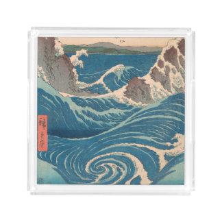Utagawa Hiroshige Naruto Whirlpool Acrylic Tray