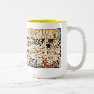 Utagawa Kuniteru the second and Sumo Wrestler Two-Tone Coffee Mug