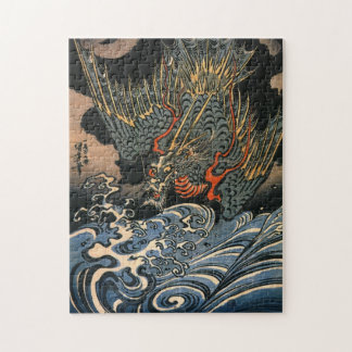 Utagawa Kuniyoshi Dragon Plunging into Water Jigsaw Puzzle