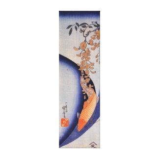 Utagawa Kuniyoshi Red Carp under Wisteria Canvas Print