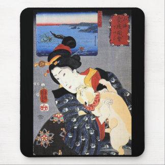 Utagawa Kuniyoshi, 'Sankai degree of love 圖 會 Mouse Pad