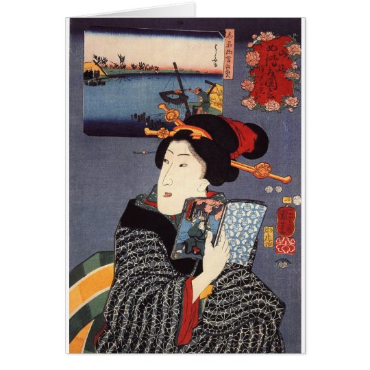 Utagawa Kuniyoshi Woman (12) Card