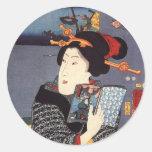 Utagawa Kuniyoshi Woman (12) Round Sticker