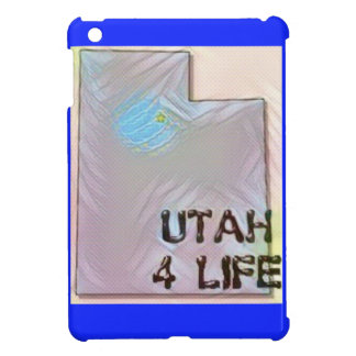 """Utah 4 Life"" State Map Pride Design Cover For The iPad Mini"