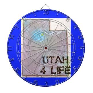 """""""Utah 4 Life"""" State Map Pride Design Dartboard"""