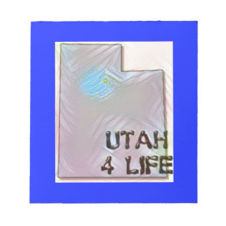 """""""Utah 4 Life"""" State Map Pride Design Notepad"""