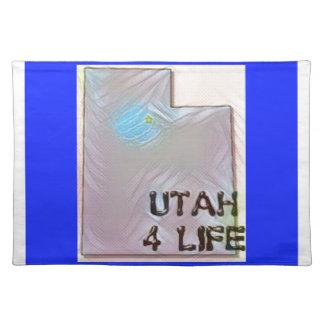 """""""Utah 4 Life"""" State Map Pride Design Placemat"""