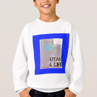 """Utah 4 Life"" State Map Pride Design Sweatshirt"