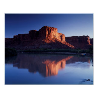 Utah, A mesa reflecting in the Colorado River 2 Poster
