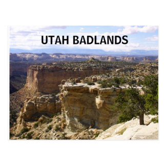 UTAH Badlands postcard
