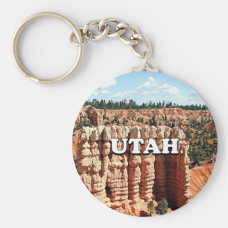 Utah: Bryce Canyon National Park Basic Round Button Keychain