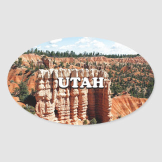 Utah: Bryce Canyon National Park Oval Sticker