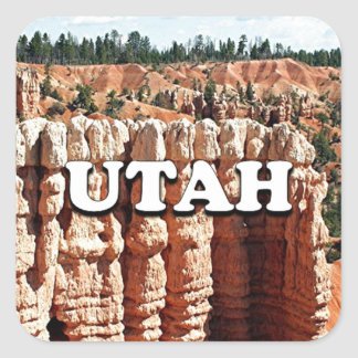 Utah: Bryce Canyon National Park Square Sticker