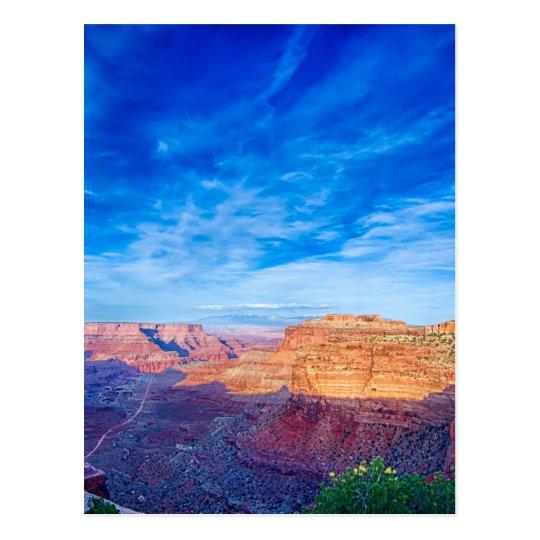 Utah canyon lands postcard