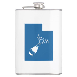 Utah Champagne Powder Hip Flask