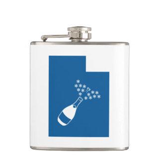 Utah Champagne Powder Hip Flask