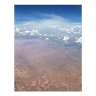 Utah Cloudscape from 36,000 Feet Letterhead