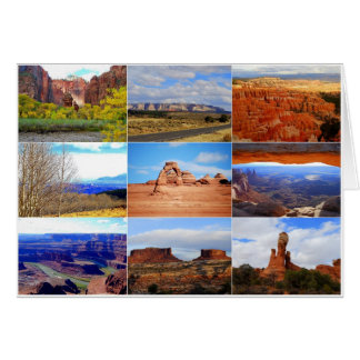Utah Collage Card
