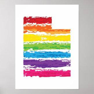 utah color strokes poster