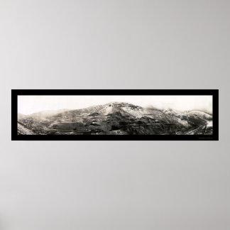 Utah Copper Mining Photo 1909 Poster