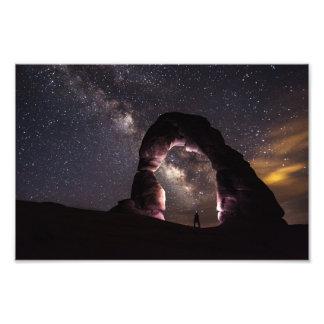 Utah Delicate Arch night stars milky way landscape Art Photo