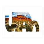 Utah desert logo post card