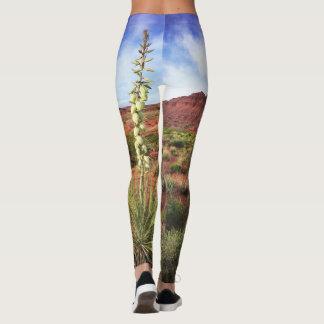 Utah Desert Yucca Flowers Landscape Photo Leggings