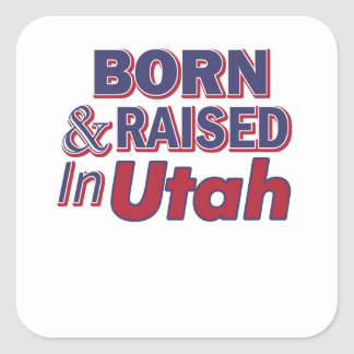 Utah design square sticker