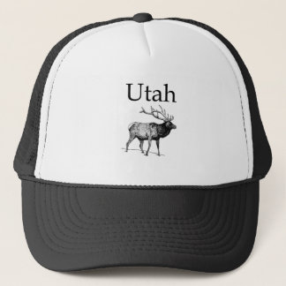 Utah Elk (line art) Trucker Hat