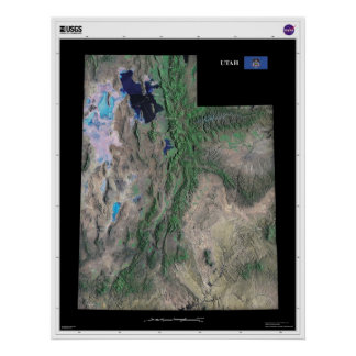Utah From Space Poster