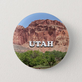 Utah: Fruita, Capitol Reef National Park, USA 2 Inch Round Button