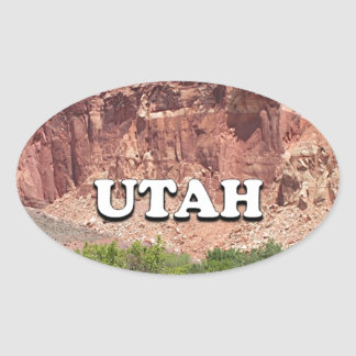 Utah: Fruita, Capitol Reef National Park, USA Oval Sticker