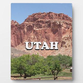 Utah: Fruita, Capitol Reef National Park, USA Plaque